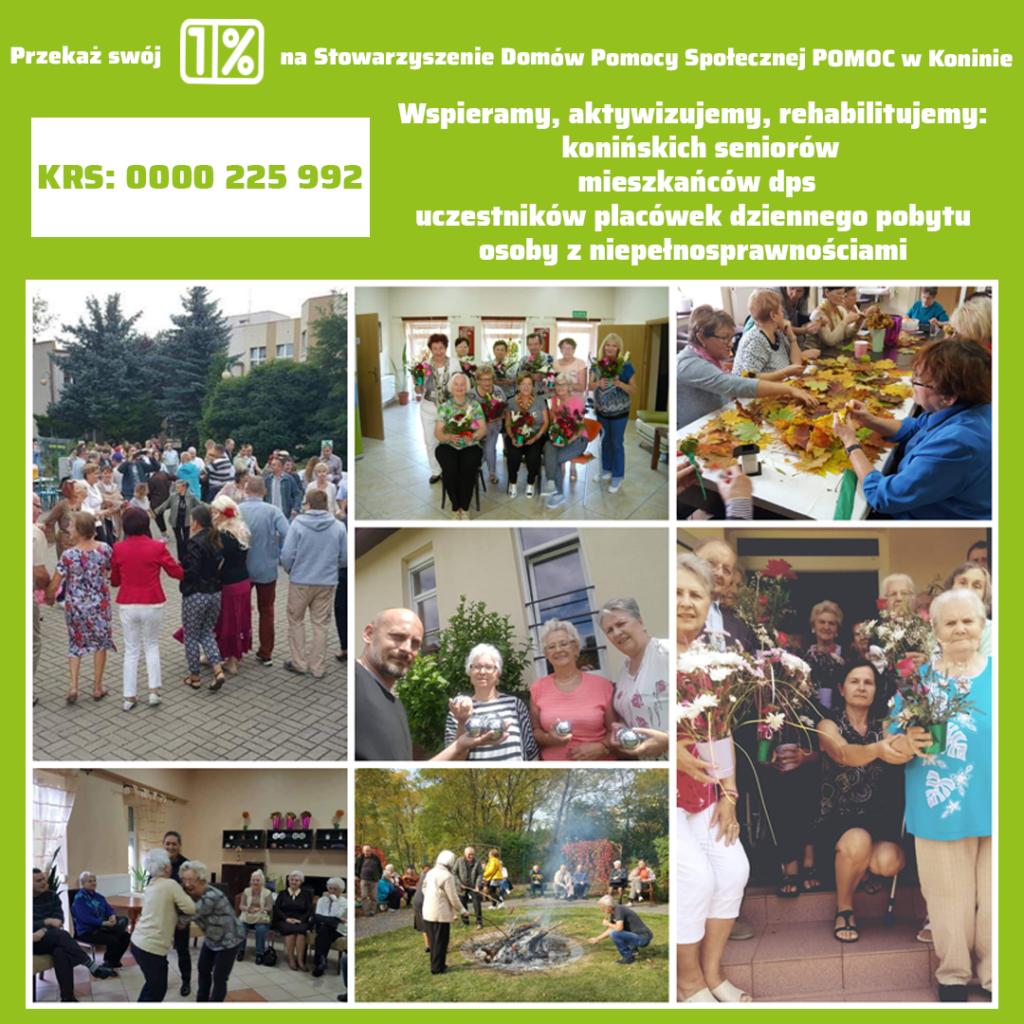 Materiał promocyjny dla 1% podatku dla Stowarzyszenia Pomoc., Seniorzy podczas imprez integracyjnych