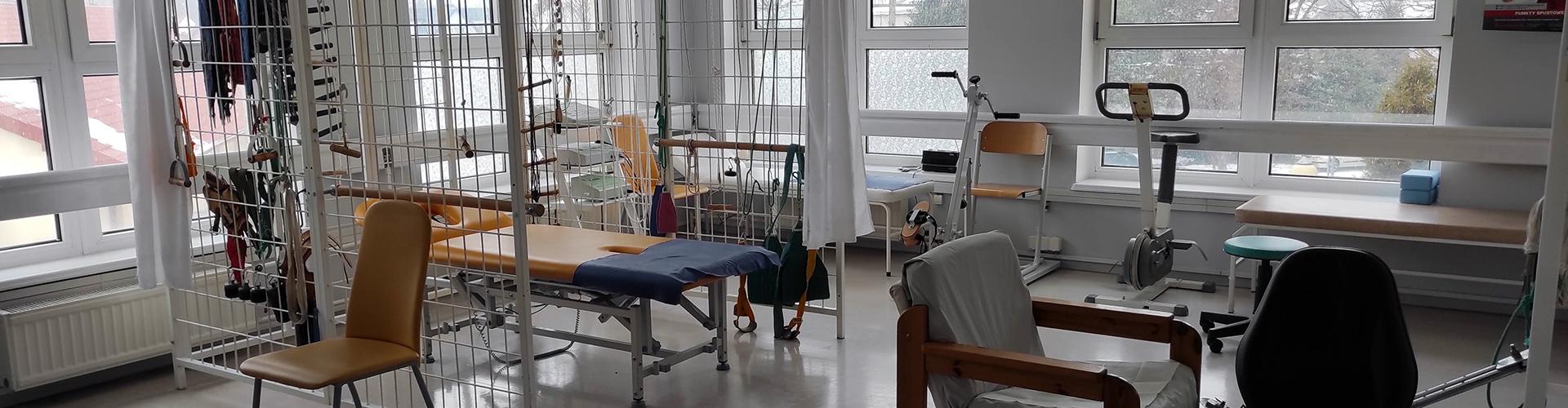 Sala fizjoterapii domu pomocy społecznej